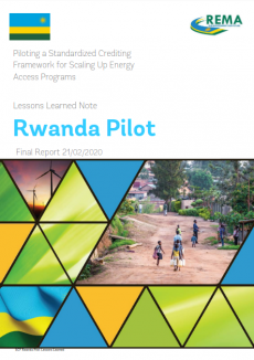 Final Report and Lessons Learned Note for the Standardized Crediting Framework Pilot in Rwanda